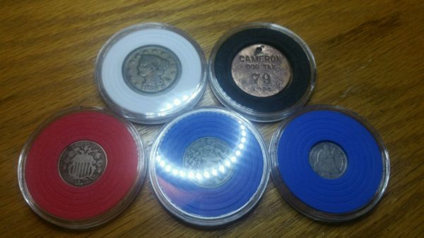 plastic coin holder with foam
