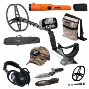 Garrett AT Pro Submersible Metal Detector Package with Pro Pointer AT metal detecting tour guide metal detector